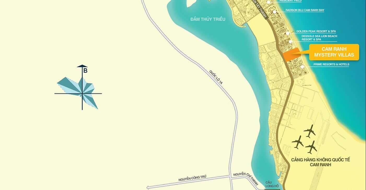 Vị Trí Cam Ranh Mystery Villas