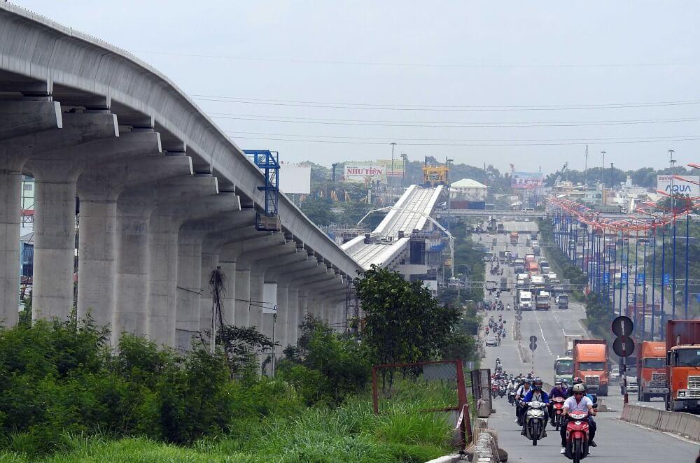 tiến độ metro bến thành - suối tiên