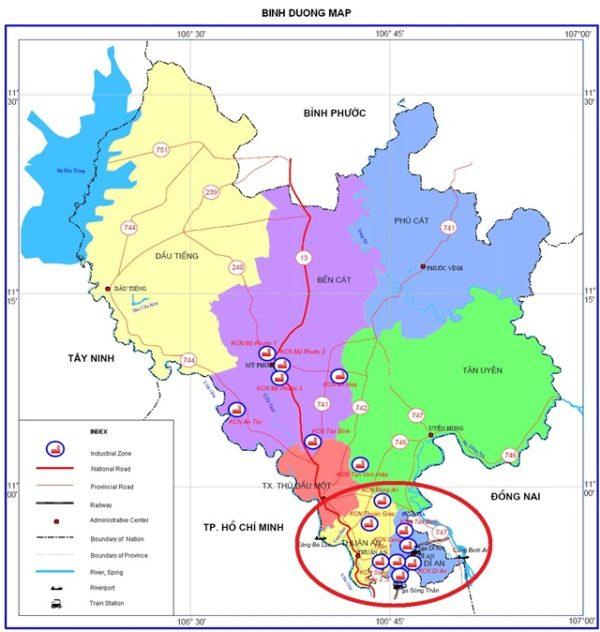 Bản đồ chi tiết vị trí và quy hoạch Dĩ An