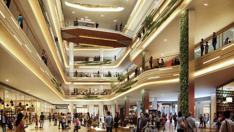 Thiết kế bên trong trung tâm mua sắm Estella Place quận 2