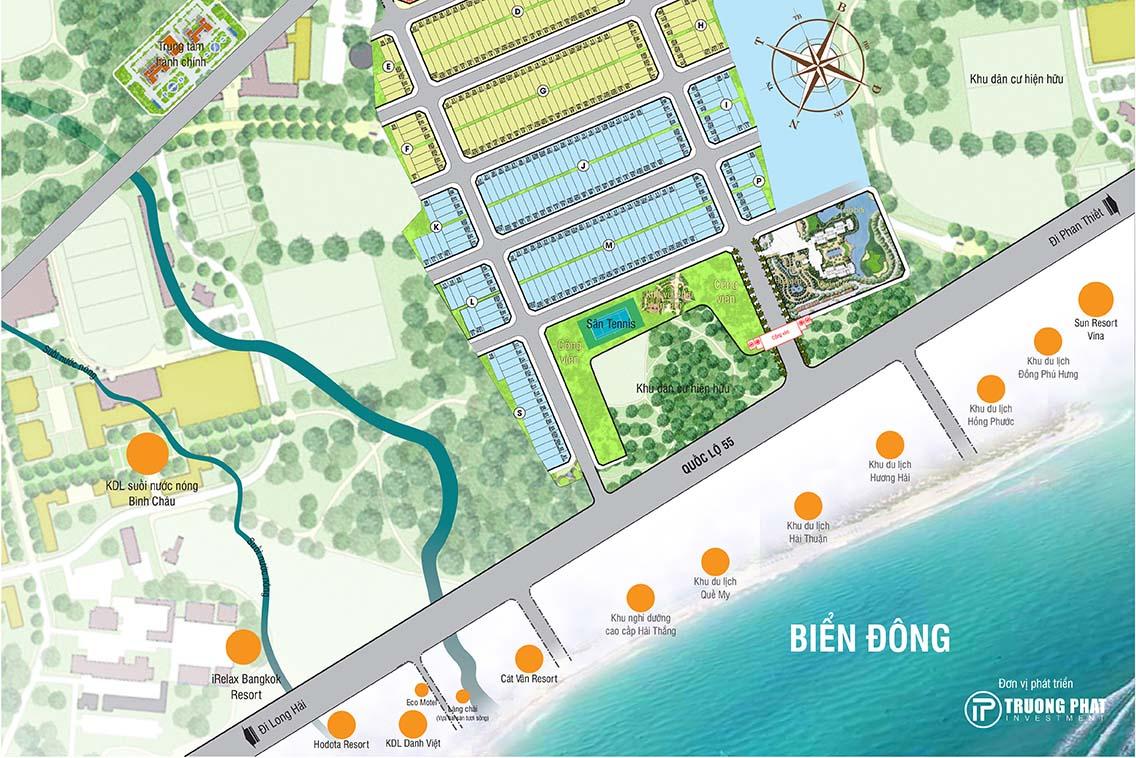 bản đồ Vị trí Seaway Ho Tram Binh Chau