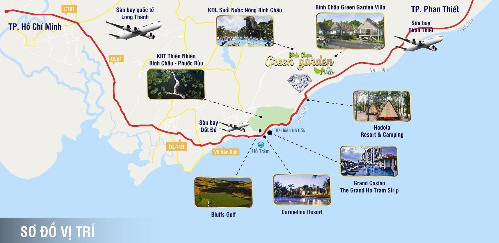 Vị trí Seaway Ho Tram Binh Chau