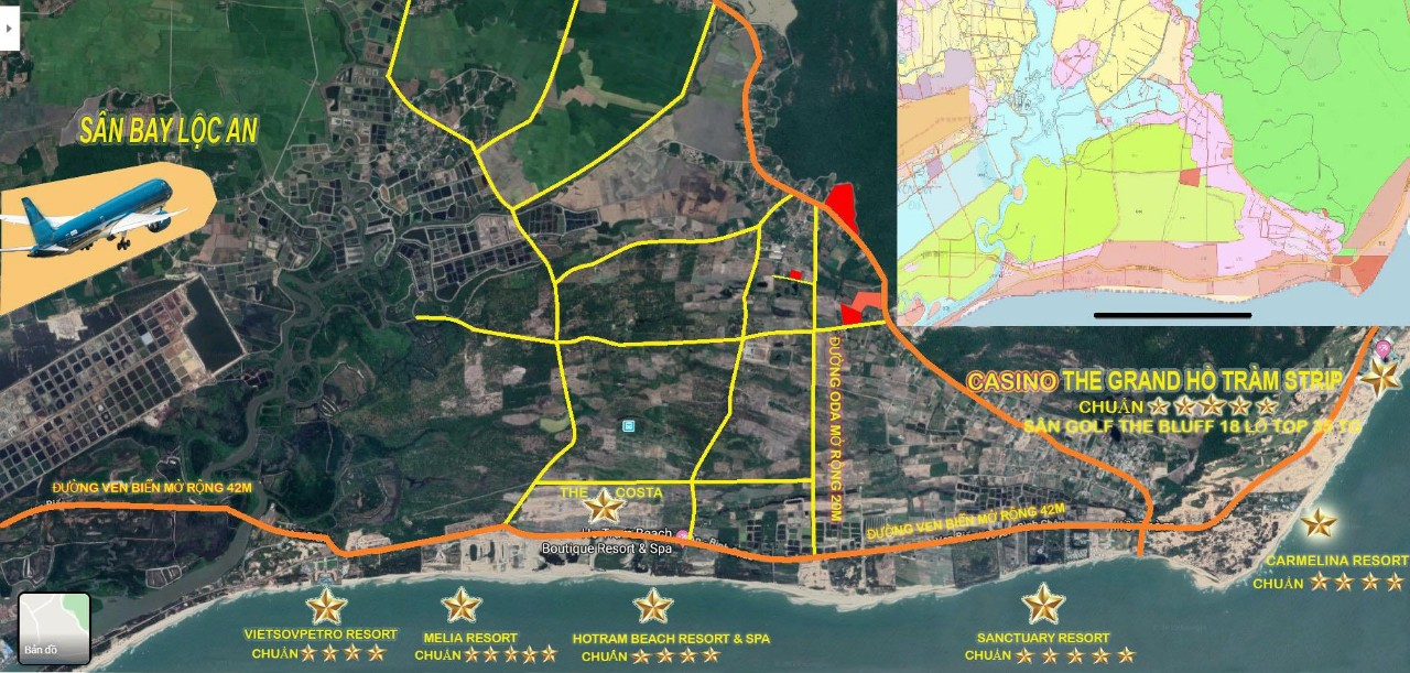 quy hoạch hồ tràm 2020