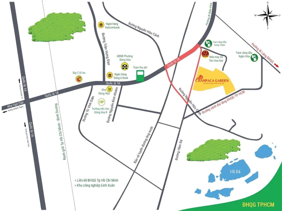 Dự án Champaca Garden Bình Dương,Champaca Garden làng đại học,nhà phố Đông Hòa Dĩ An,Khu Đô Thị chamcapa,Champaca Garden Bình Dương