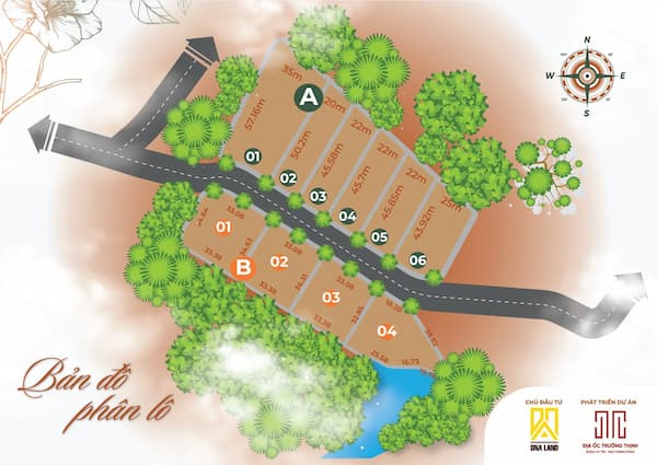 Dự án - đất vườn - nhà vườn - khu sinh thái - khu dân cư - đất nền - Camellia Garden trảng bom đồng nai , chủ đầu tư công ty địa ốc DNA LAND