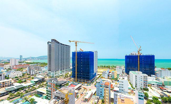 Propertyxn – Gửi đến quý khách hàng hình ảnh về tiến độ thi công mới nhất tháng 6/2021 dự án Quy Nhơn Melodycủa CĐT Hưng Thịnh