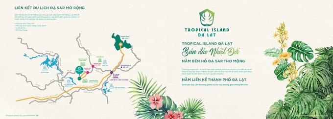Đất đồi nghĩ dưỡng lâm hà đầu tư sinh lời ngay với hệ sinh thái mặt Hồ Vì thếTropical Island Đà Lạt. Khách hàng sẽ sở hữu một ngôi nhà thứ 2