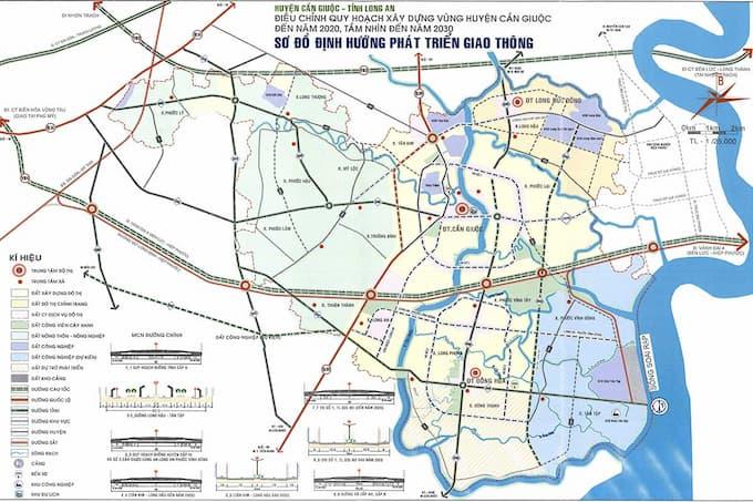 Quy hoạch huyện Cần Giuộc Long An
