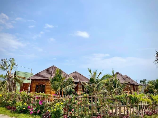 Bán đất có sẵn 7 căn nhà gỗ home stay giá 13ty quốc lộ 55 chuyện nhận mua bán ký gửi - đất vườn - nhà vườn - biệt thự - Hồ tràm