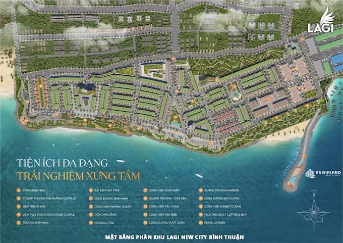 Dự án biển Lagi New Citythuộcphường Phước Lộc, Thị xã Lagi, tỉnh Bình Thuận, đất nền - nhà phố – biệt thự – căn hộ - Lagi New City