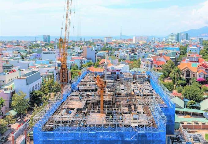 Cập nhật tiến độ dự án căn hộ Grand Center Quy Nhơn tháng 9/2021 dự án - căn hộ - shophouse - offictel grand center quy nhơn